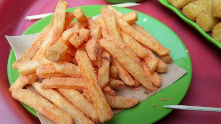 Hanoi Street Food on Ta Hien: Shaken Fries