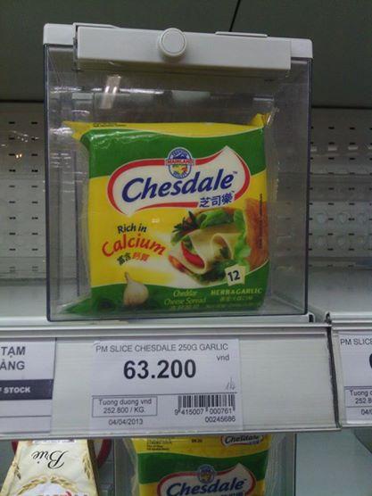 Only in Vietnam: Lockedup cheese