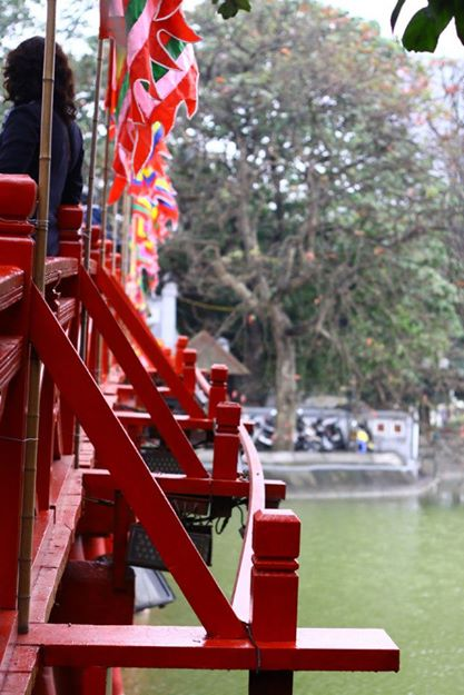 Red Bridge to Ngoc Son Temple, Hanoi