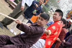 Vietnamese New Year Festival: Tug of war