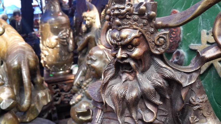 A statue at Hanoi Antique Fair