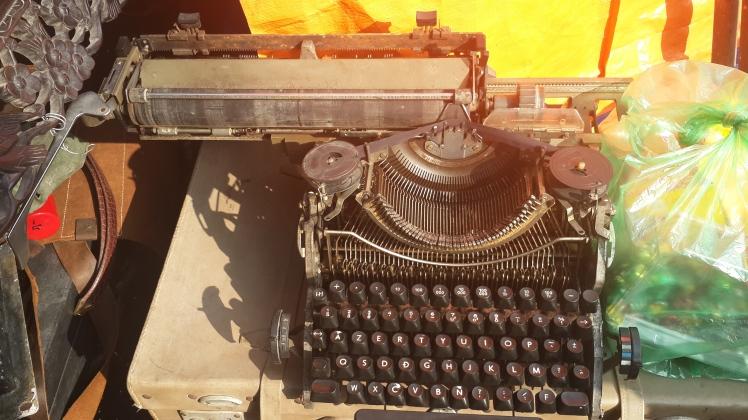 A typewriter at Hanoi Antique Fair